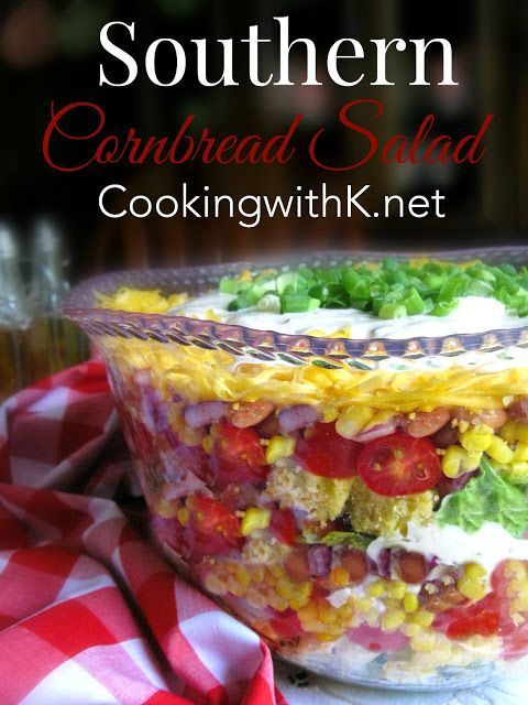Southern Cornbread Salad (Cooking with K)