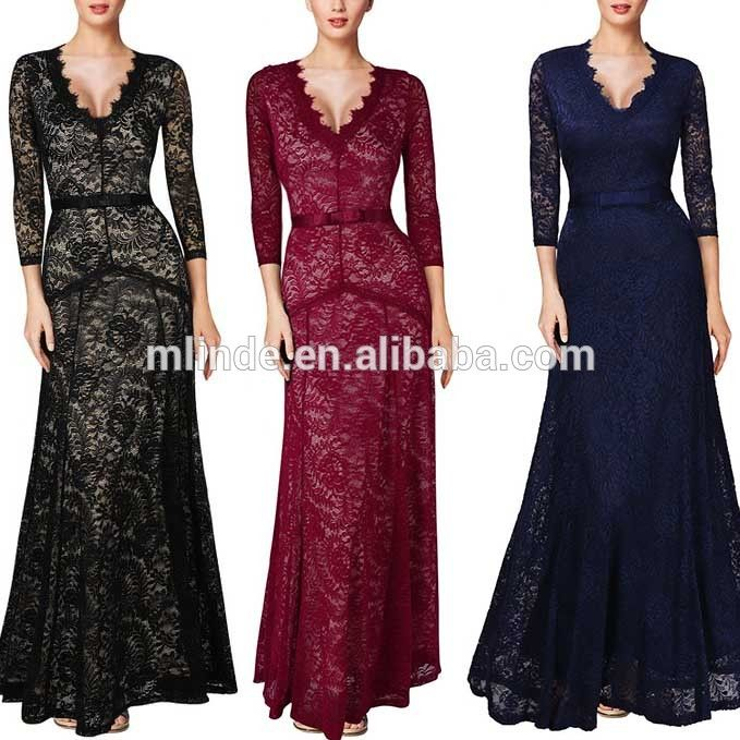 Deep V Neck Women Floral Lace 2/3 Sleeves Long Bridesmaid Maxi Dress For Wedding Party , Find Complete Details about Deep V Neck Women Floral Lace 2/3 Sleeves Long Bridesmaid Maxi Dress For Wedding Party,Bridesmaid Dress,Lace Bridesmaid Maxi Dress,Deep V Neck Floral Bridesmaid Dress from Bridesmaid Dresses Supplier or Manufacturer-Guangzhou Mlinde Imp & Exp Co., Ltd.