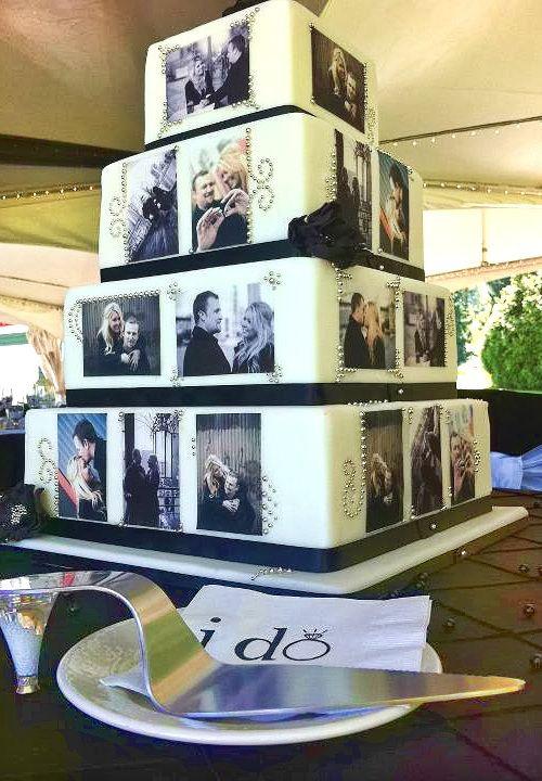 art on wedding cake 21 Unique Wedding Cake Ideas photo