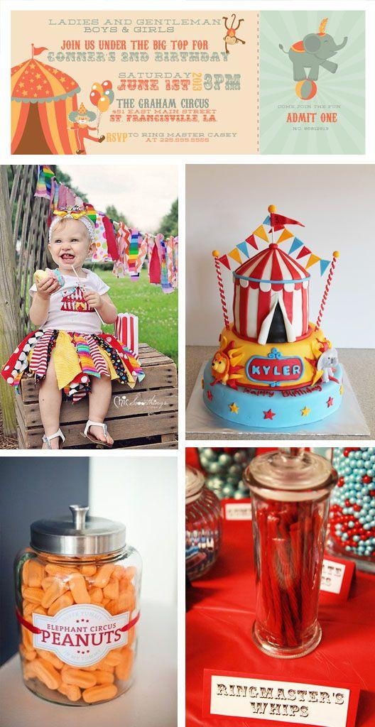 Circus Birthday Party Inspiration #circus #birthdayparty #inspiration
