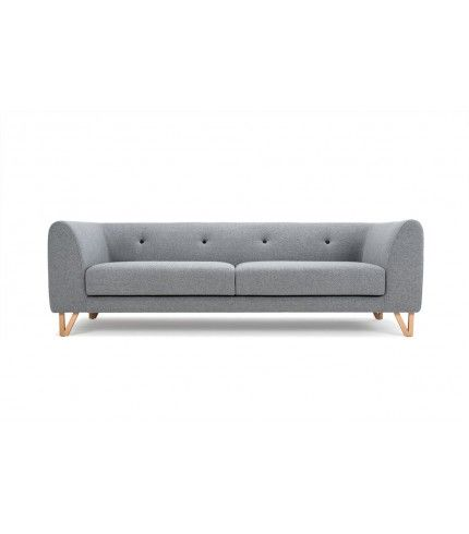 Eddie, 3-seater sofa, Andie light grey