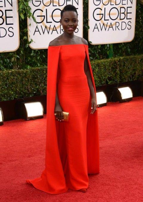 Lupita Nyongo golden Globe dress