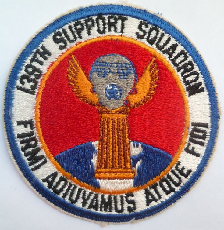 Usaf 139th Support Squadron 1950s Cloth Patch Badge Us Air
