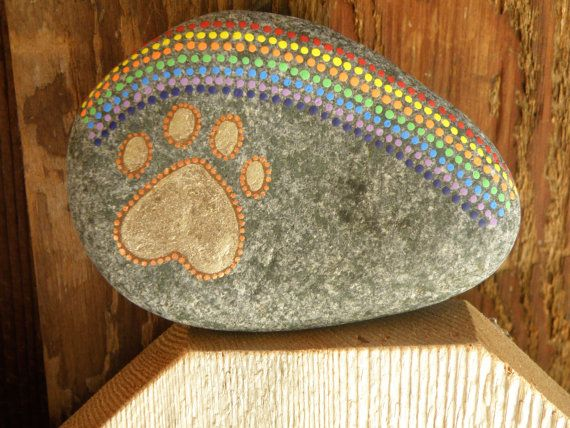 PET MEMORIAL STONE:  Customizable  The rock shown is not for sale as is.