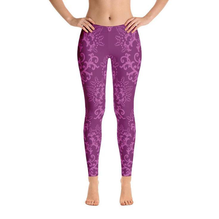 Distinctive Purple Casual Leggings