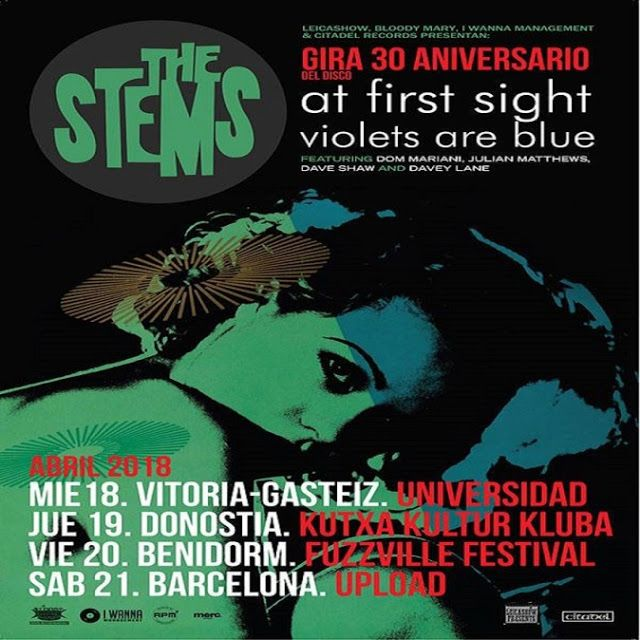 Que vienen THE STEMS!!! - Gira 30 aniversario 'At first sight violets are blue' http://www.woodyjagger.com/2018/04/stems-gira-30-aniversario-at-first-sight-violets.html