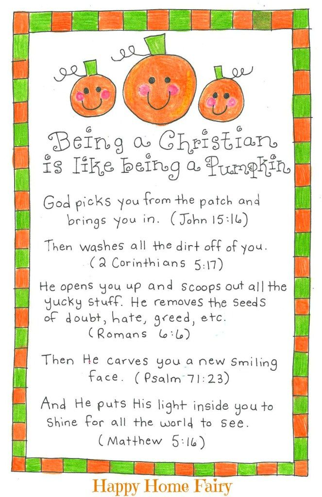 Being a Christian Is Like Being a Pumpkin – FREE Printable