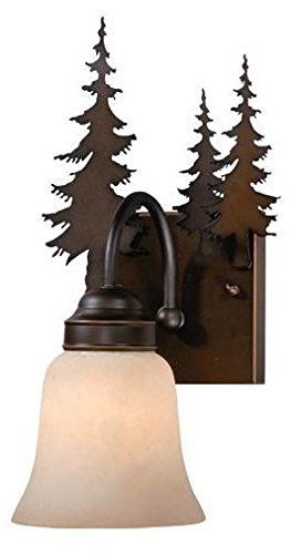 Best Bathroom Light Fixtures | Vaxcel VL55501BBZ Yosemite 1 Light Vanity Light Burnished Bronze Finish *** Click image to review more details. Note:It is Affiliate Link to Amazon.