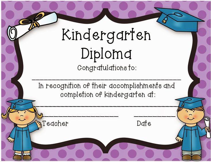 Kindergarten Diploma - Freebie!