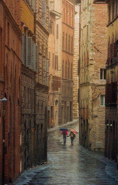 October rain.. Siena, Tuscany, Italy | by Daniel Kordan