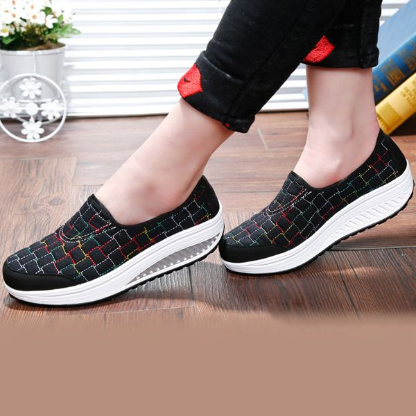 Zapatos de los zapatos de la sola del eje de balancín de las mujeres que funcionan los zapatos al aire libre atléticos ocasionales