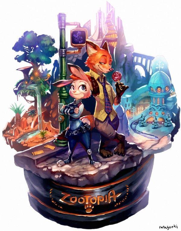 #Zootopie #Dessin de rataGENKI #JudyHopps #NickWilde