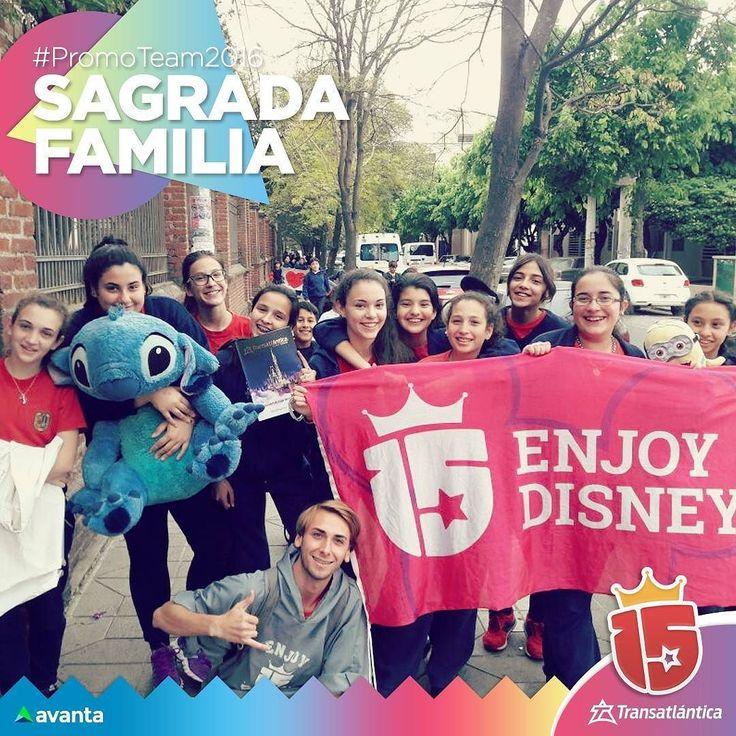 Las chicas de #SagradaFamilia más cerca de #Disney  con el #promoTeam2016 #enjoy15 #transatlantica #avanta!