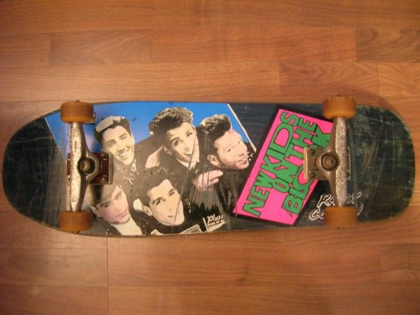Skate Noize | New Kids On The Block vintage skateboard Randy Colvin 1992 SUPER RARE!