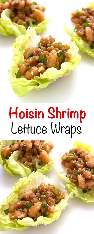 Hoisin Shrimp Lettuce Wraps