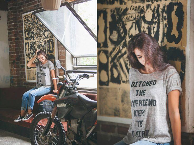 Mink Pink Ditch the Boyfriend Tee / Roxy Tomboy Pants / Vans Parlour Large Fashion Bag-Purse / Converse Chuck Taylor OX Black