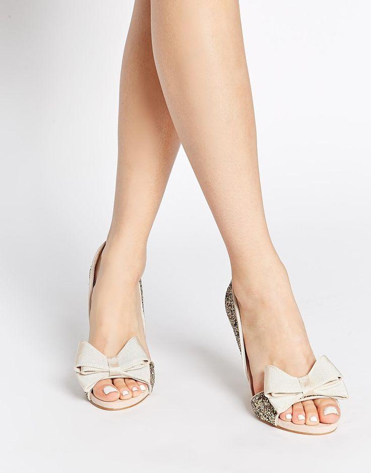 Image 1 - Miss KG - Gabriella - Escarpins peep toes à découpes - Éclat doré