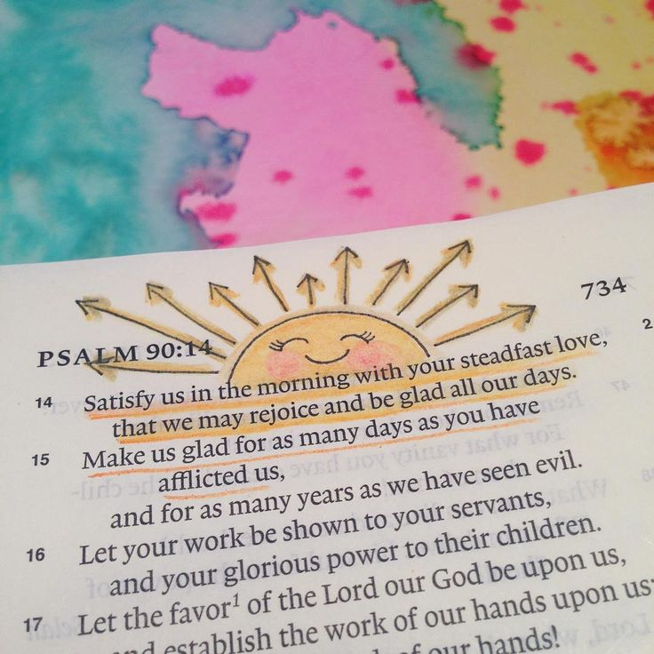 January 15. Psalm 90:14. Satisfy us in the morning with your steadfast love, that we may rejoice and be glad all our days. ☀️It's a teeny tiny pic today. ☀️This is one of the verses our pastor talked about today. I definitely needed to be reminded that He is unchangeable. His love is all we need to be satisfied and His love never ever ends.❤️ #illustratedfaith #illustratedfaithcommunity #illustratedfaith2016 #illuminatedfaith #scripture #scriptureart #documentedfaith #documentedfaith2016…