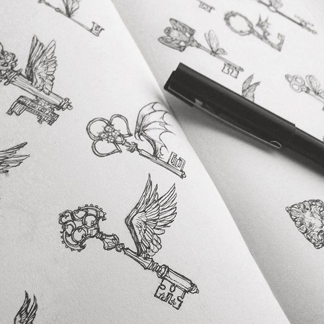 Fliegende Schlüssel! Sogar mein Stift hat Flügel. #Zeichnen #Nick #Harrypotter #Flyingkeys