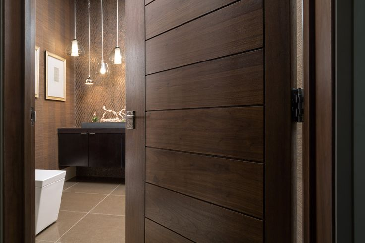"TruStile Modern Door Collection - TM13000 in Walnut with 1/4"" kerf cut reveal. Trent Bell Photography"