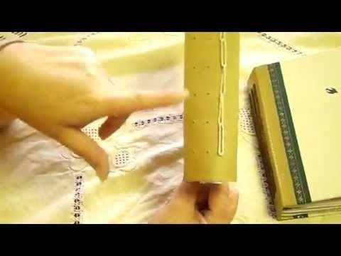 Junk Journal,Book Binding Extra (A) Daisy Runner Stich!  video met duidelijke stappen!