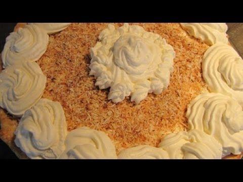 ▶ Vegan Coconut Cream Pie - No Bake, Egg-Free, Dairy-Free, Gluten-Free - YouTube