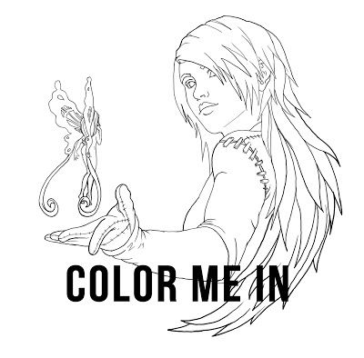 color me in, free printable PSD photoshop download