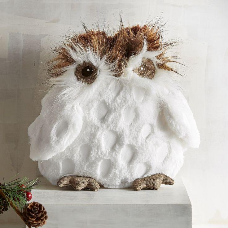Gracie The Owl Stuffed Animal White