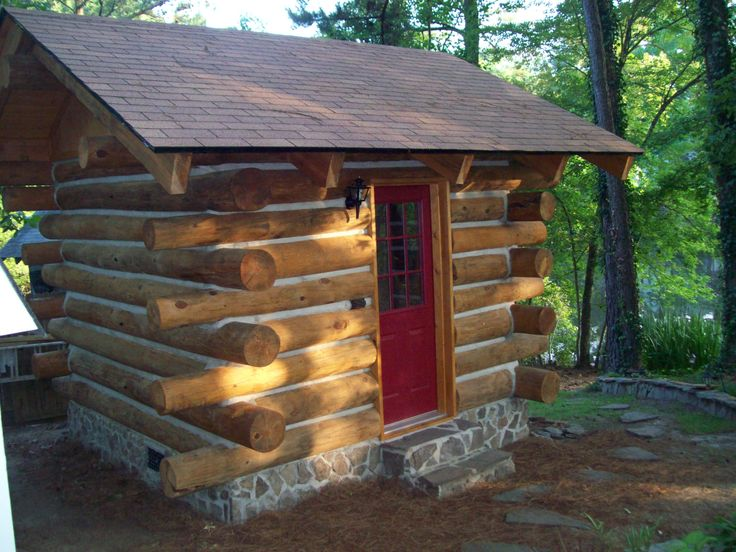 31 best building of the log cabin shed images on pinterest for How to build a butt and pass log cabin