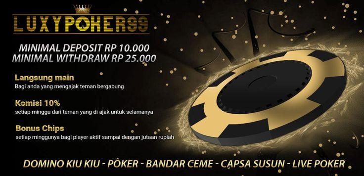 Agen judi poker online indonesia yang terbaik adalah sebuah situs poker online terpercaya melayani para pemainnya selama 24 jam,dan min deposit 10ribu saja.