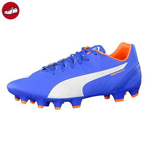 Puma Fussballschuhe evoSPEED 4.4 FG 103273 Electric Blue Lemonade-White-Orange 46.5 - Puma schuhe (*Partner-Link)