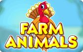 Farm Animals: In this animal game, kids learn about the different farm animals. Kids learn to identify the farm animals, their babies and their homes.