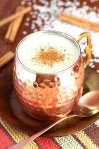 This Mexican Sweet Rice Drink (Atole de Arroz) is a cinnamon and vanilla-insfused hot beverage with a porridge-like consistency, perfect for a cold day.