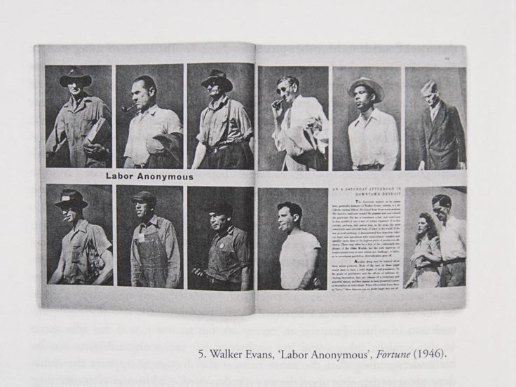 "Walker Evans: ""Labor Anonymous"" [spread from Fortune magazine]"