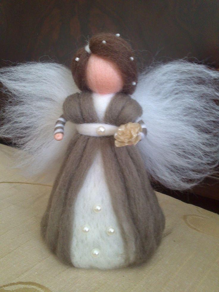 Fada em lã merino. carisarte.blogspot.pt