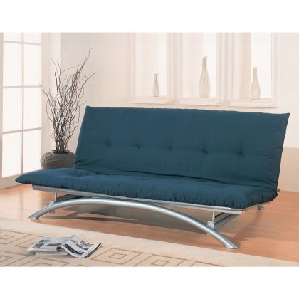 Coaster Arc Style Metal Futon Frame in Silver by Coaster Co. 300008 at appliancesconnection.com. This simple Arc Style Metal Futon Frame in Silver will create a modern look in your spare bedroom or den. The armless style features a gently arching front base, forming tubular feet and has classic Silver metal finish. #stylish #fancy #futon