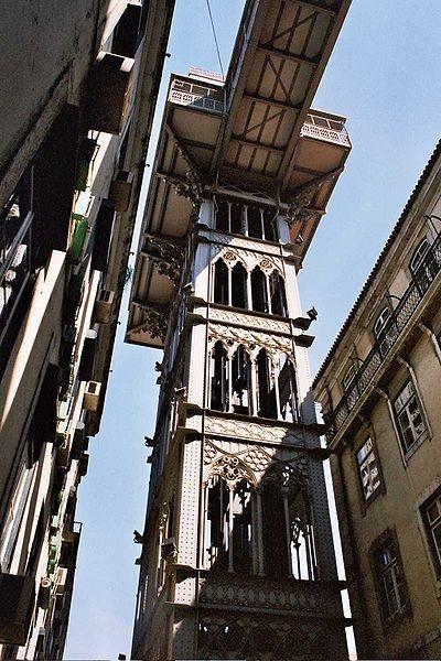 Hustej výtah v centru města z roku 1902 -  http://www.golisbon.com/sight-seeing/santa-justa.html