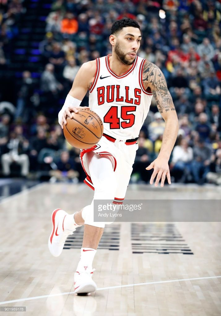 ac42bd0777c News Photo : Denzel Valentine of the Chicago Bulls dribbles... | NBA ...