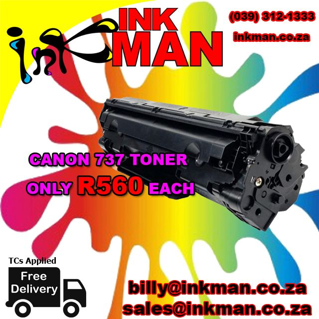 @Canon_SA 737 #Toner #UNBEATABLE #PRICE! ONLY R560 #INKman #SouthAfrica #Print http://bit.ly/1O2JrsX