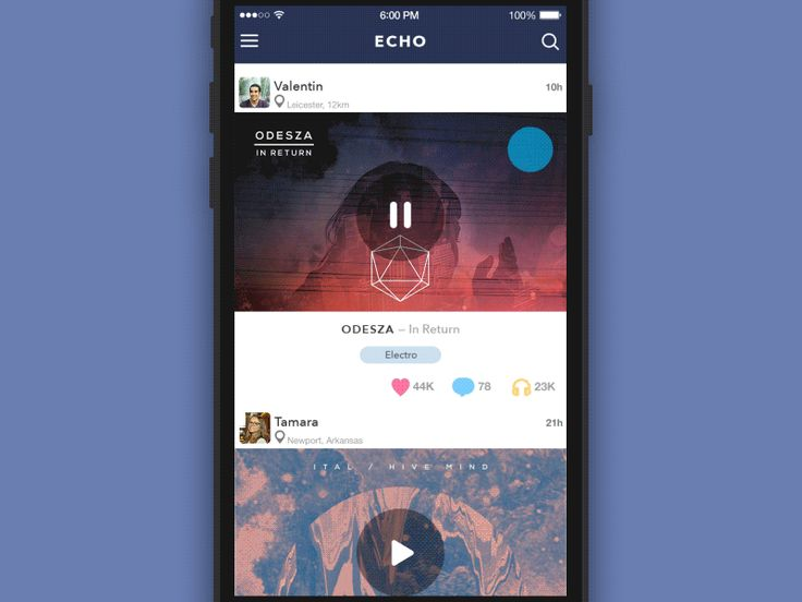 GIF for the ECHO App v2.1 by Sergey Valiukh