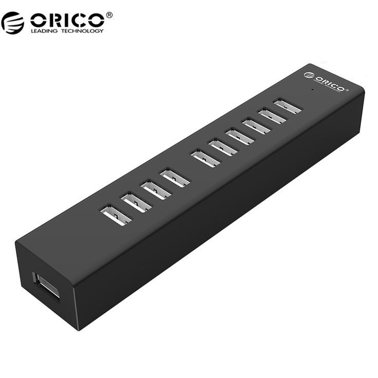 ORICO H1013 10 Ports USB 2.0 HUB for MAC Notebook Perfectly with 100CM Data Cable - Black/White