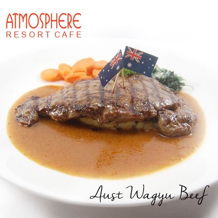 Australian Wagyu Beef served with pomme gratin, creamy spinach & vichy carrot, in a rich gravy sauce