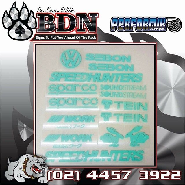Vinyl cut decals for the Performik guys done by BDN Signs Ulladulla. Big Dog Nation  Ulladulla Lake Tabourie  Signs Signwriter  Cars  Custom Cars Vehicle Wraps