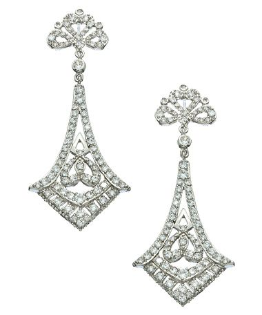 Vivian Jacob CZ Art Deco Earrings #maxandchloe