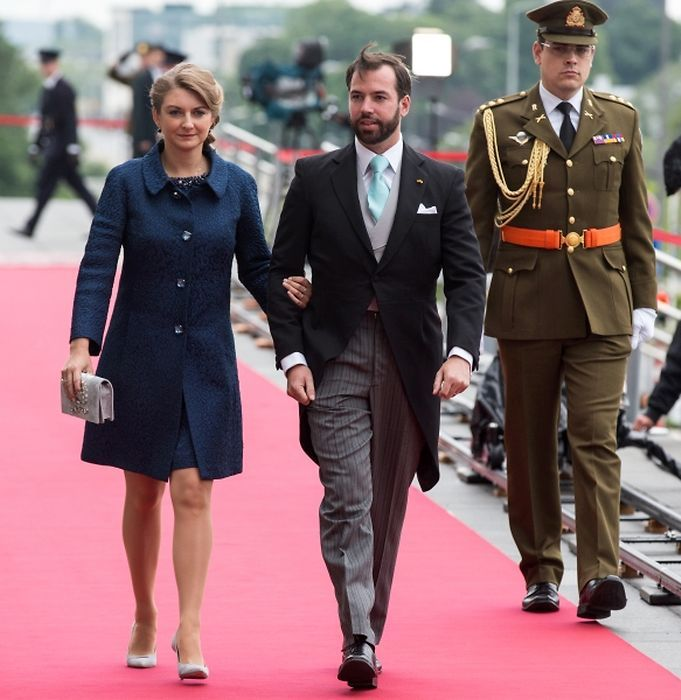 Grand Ducal Family of Luxembourg attended  National Day Celebrations in Luxembourg.6/23/15: Hereditary Grand Duke Guillaume and Stephanie