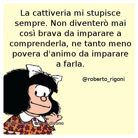 Mafalda ha sempre ragione.