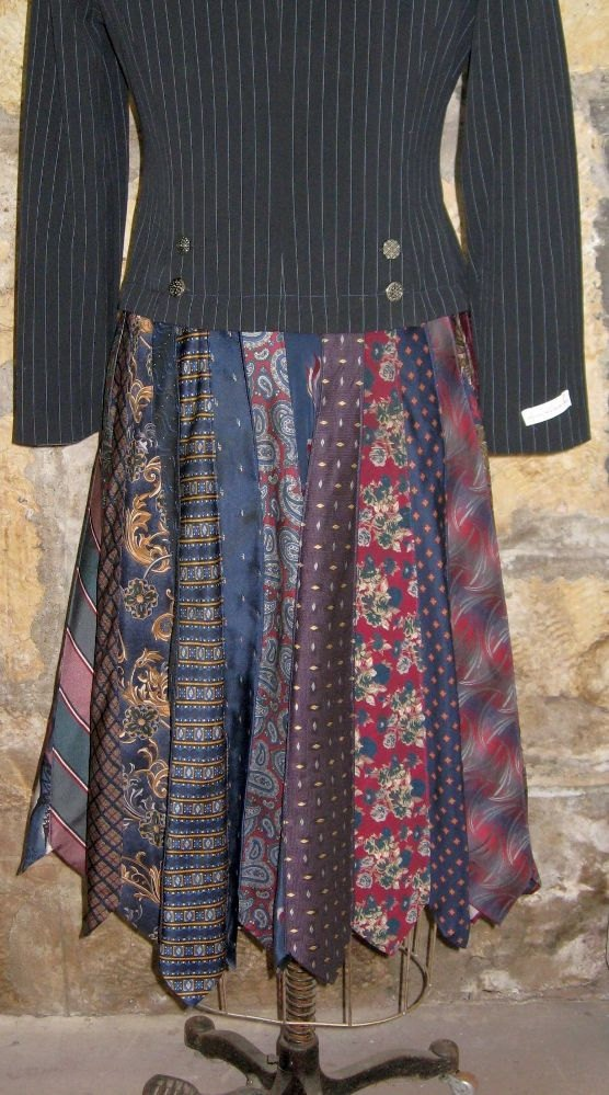 Altered Couture Men's Tie Coat/Jacket by fleurdelis123 on Etsy - love the skirt as it's the first long one I've seen