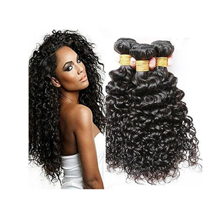 Morningsilkwig Bundles Real Hairs Water Wave Hair Wigs 100g/Piece Peruvian Water Wave Wig 100% Human Virgin Hair Weaving Natural Wave Wet And Wavy Extensions