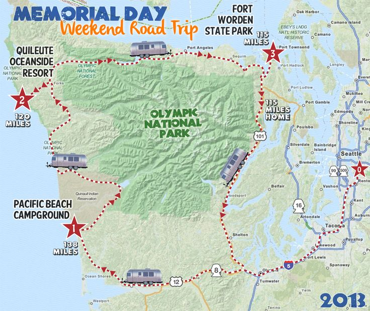 lake ozette hike map overview Washington hikes and adventures
