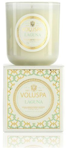Voluspa Laguna candle - smells just like the beach... #mothersday